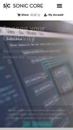 Vorschau der mobilen Webseite www.creamware.de, Creamware Audio GmbH