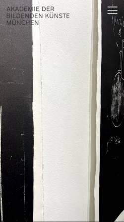 Vorschau der mobilen Webseite www.adbk.de, Akademie der bildenden Künste