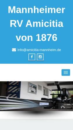 Vorschau der mobilen Webseite amicitia-mannheim.de, Mannheimer Ruder Verein Amicitia von 1876 e.V.