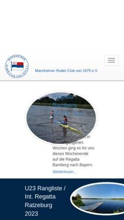 Vorschau der mobilen Webseite www.mannheimer-rc.de, Mannheimer Ruder-Club von 1875 e.V.