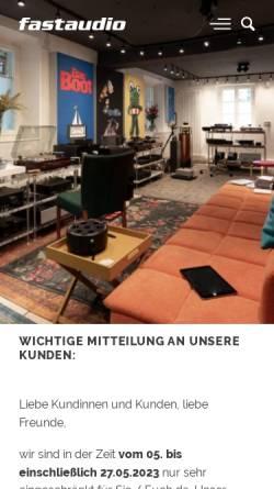 Vorschau der mobilen Webseite www.fastaudio.com, Fast Audio