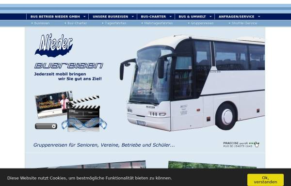Vorschau von www.bn-reisen-berlin.de, Bus Betrieb Nieder GmbH