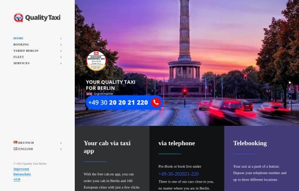 Vorschau von www.taxi263000.de, Taxi 26 3000 - Die neue Taxi-Vermittlung in Berlin - einsteigen, wohlfühlen!