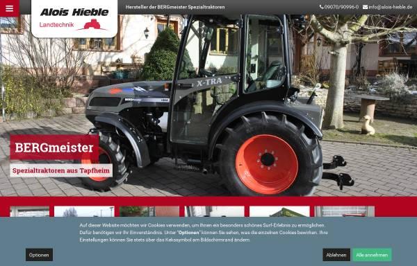 Vorschau von www.alois-hieble.de, Alois Hieble & Co. - Landmaschinen und Maschinenbau