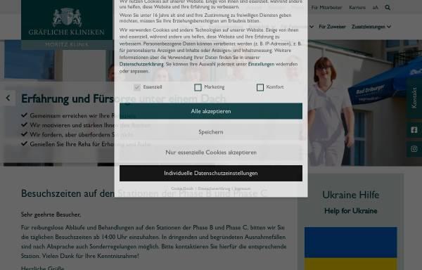 Vorschau von www.moritz-klinik.de, Moritz-Klinik