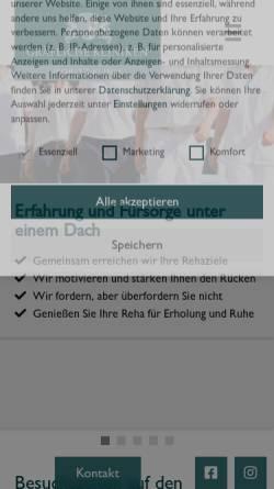 Vorschau der mobilen Webseite www.moritz-klinik.de, Moritz-Klinik