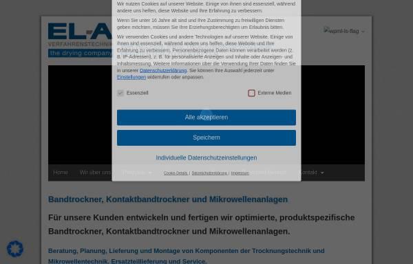Vorschau von www.ela-vt.de, EL-A Verfahrenstechnik GmbH
