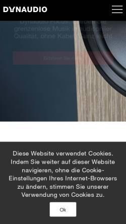 Vorschau der mobilen Webseite www.nad.de, NAD, Dynaudio International GmbH