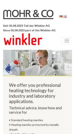 Vorschau der mobilen Webseite www.labo-mohr.de, Mohr & Co Laborhandelsgesellschaft Inh. Harry Mohr