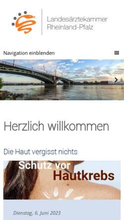 Vorschau der mobilen Webseite www.laek-rlp.de, Landesärztekammer Rheinland-Pfalz