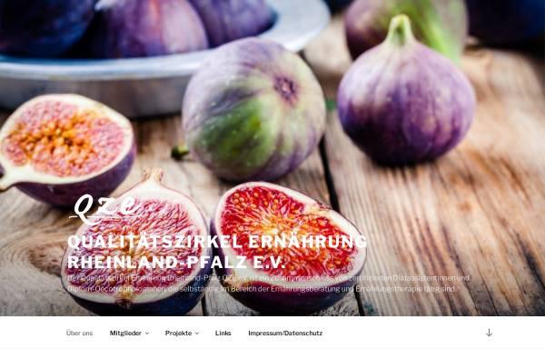 Vorschau von www.ernaehrung-rlp.de, Qualitätszirkel Ernährung Rheinland-Pfalz QZE e.V.