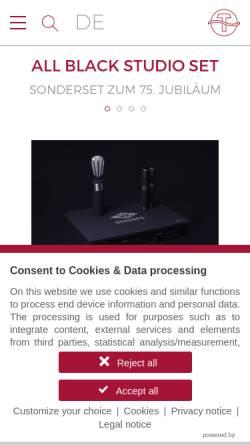 Vorschau der mobilen Webseite www.schoeps.de, Schoeps GmbH