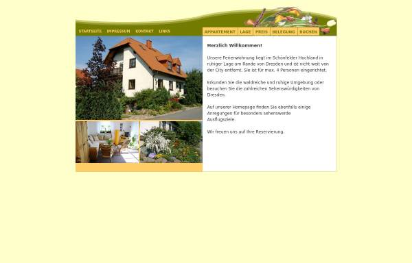 Vorschau von ferienwohnung-dresden-stadtrand.de, Ferienwohnung in Dresden Weissig