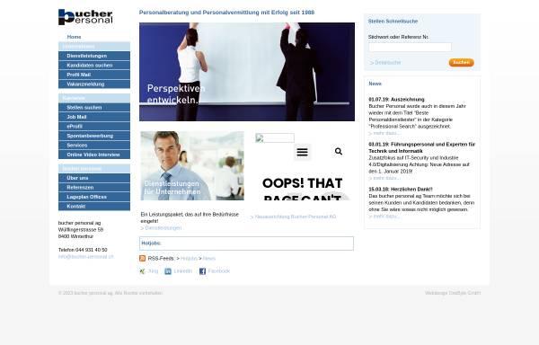 Vorschau von www.bucher-personal.ch, Bucher Personal AG