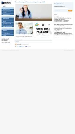 Vorschau der mobilen Webseite www.bucher-personal.ch, Bucher Personal AG