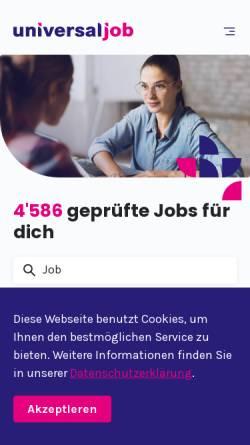 Vorschau der mobilen Webseite www.universal-job.ch, Universal-Job AG