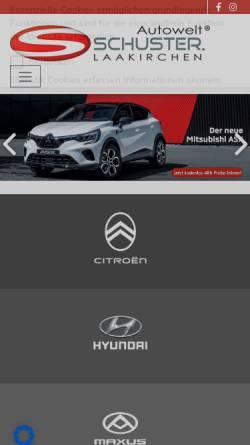 Vorschau der mobilen Webseite www.auto-schuster.at, Autohaus Schuster