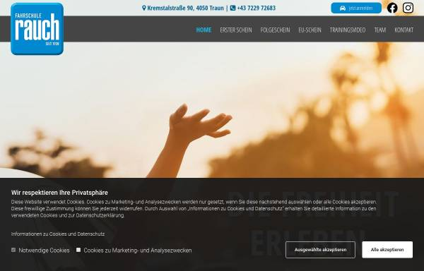 Vorschau von www.fahrschule-rauch.at, Fahrschule Rauch