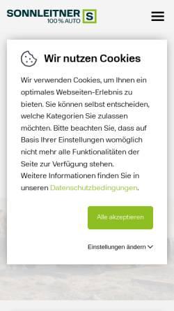 Vorschau der mobilen Webseite www.sonnleitner.at, Sonnleitner GmbH