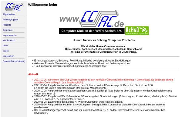 Vorschau von www.ccac.rwth-aachen.de, Computer-Club an der RWTH Aachen e.V.