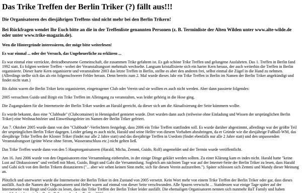 Vorschau von www.berlin-triker.de, Berlin Triker