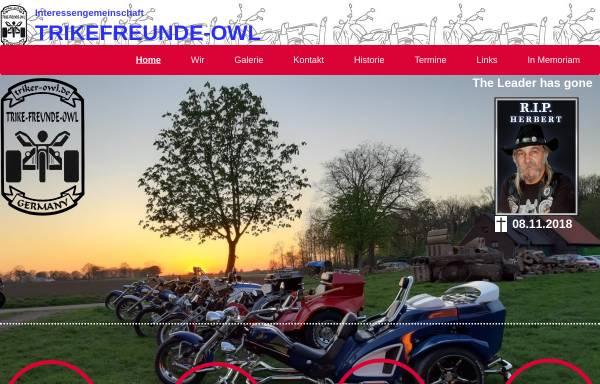 Vorschau von www.triker-owl.de, Interessengemeinschaft Trike-Freunde Germany
