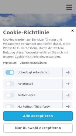 Vorschau der mobilen Webseite www.meerkatzen.de, Meerkatzentriker Bremerhaven