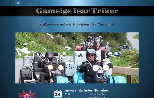 Vorschau von www.gamsige-isar-triker.de, Trikeclub Gamsige Isar Triker e.V.