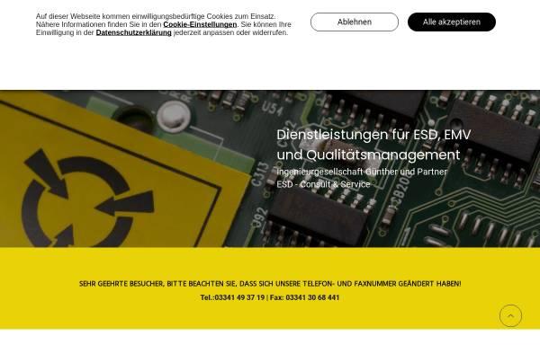 Vorschau von www.esd-consult.de, ESD-Consult & Service - Ingenieurgesellschaft Günther und Partner