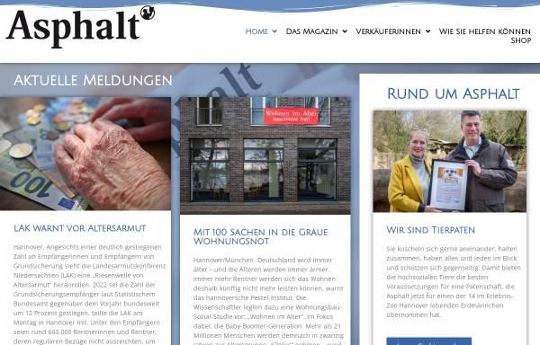 Vorschau von www.asphalt-magazin.de, Asphalt Magazin, Hannovers Straßenzeitung