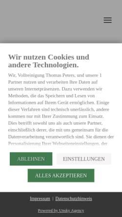 Vorschau der mobilen Webseite www.vollreinigung-peters.de, Peters Vollreinigung