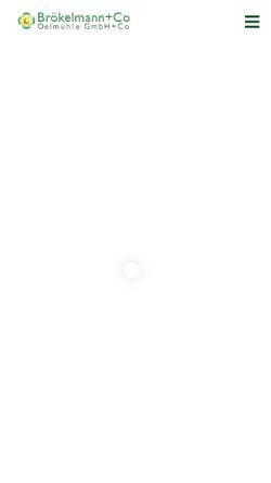 Vorschau der mobilen Webseite www.broelio.de, Ölmühle Brökelmann + Co