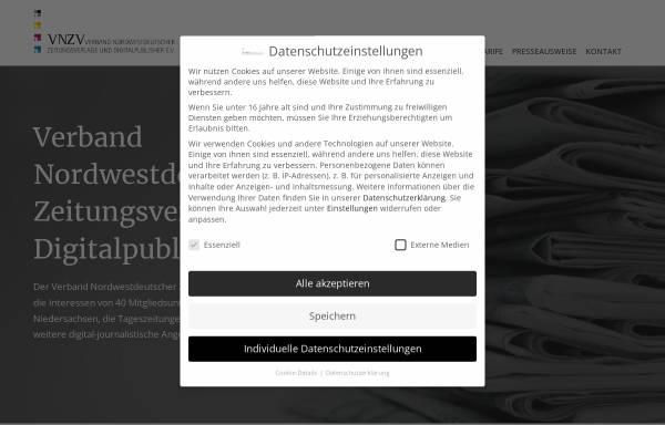 Vorschau von www.vnzv.de, Verband Nordwestdeutscher Zeitungsverlage e. V.