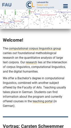 Vorschau der mobilen Webseite www.linguistik.uni-erlangen.de, Computerlinguistik Uni Erlangen