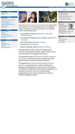 Vorschau der mobilen Webseite www.coli.uni-saarland.de, Institut für Computerlinguistik und Phonetik an der Universität des Saarlandes