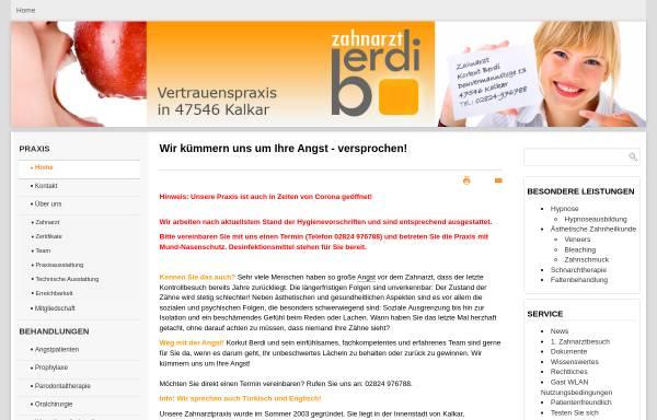 Vorschau von www.hypnose-zahnarzt.info, Zahnarzt Korkut Berdi