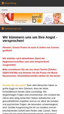Vorschau der mobilen Webseite www.hypnose-zahnarzt.info, Zahnarzt Korkut Berdi