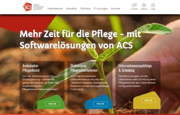 Vorschau von www.alphacomputer.de, Alpha Computer GmbH