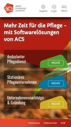 Vorschau der mobilen Webseite www.alphacomputer.de, Alpha Computer GmbH