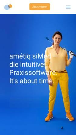 Vorschau der mobilen Webseite www.ametiq.com, Amétiq GmbH