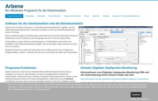 Vorschau von www.arbene.de, Dr. med. Wolfgang Klawitter