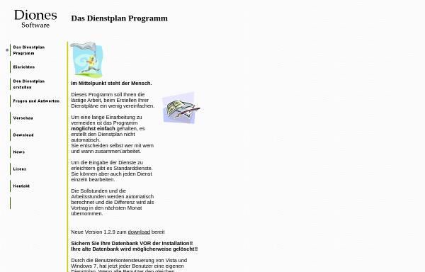 Vorschau von www.diones.de, Diones Software, Inh. Tjard Bajen