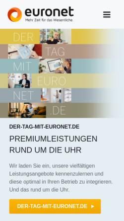 Vorschau der mobilen Webseite www.euronet-ag.de, EuroNet Software AG