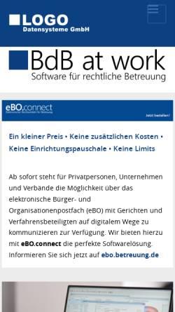 Vorschau der mobilen Webseite www.betreuung.de, LOGO Datensysteme GbR