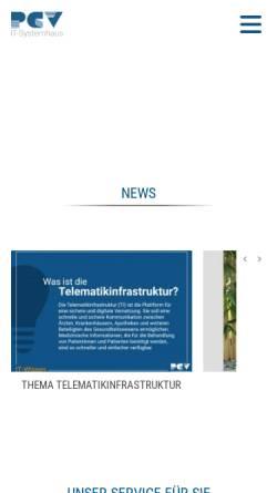 Vorschau der mobilen Webseite pcv.de, PCV Systemhaus GmbH & Co. KG