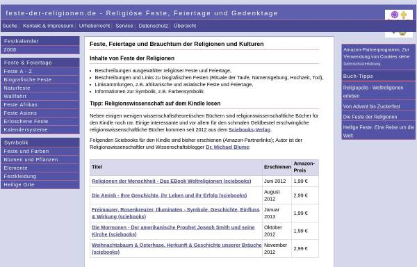Vorschau von www.feste-der-religionen.de, Feste der Religionen