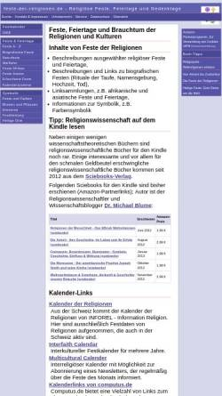 Vorschau der mobilen Webseite www.feste-der-religionen.de, Feste der Religionen