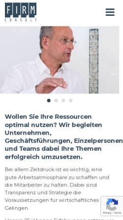 Vorschau der mobilen Webseite www.firm-consult.de, Firm Consult Axel Rube