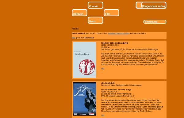 Vorschau von www.klingenstein-verlag.de, Klingenstein Verlag