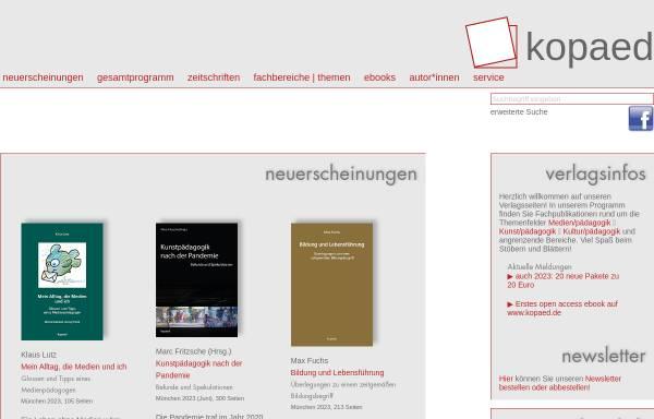 Vorschau von www.kopaed.de, kopaed verlagsgmbh